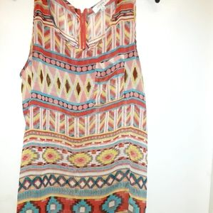 Umgee Aztec sleeveless top size 1 XL